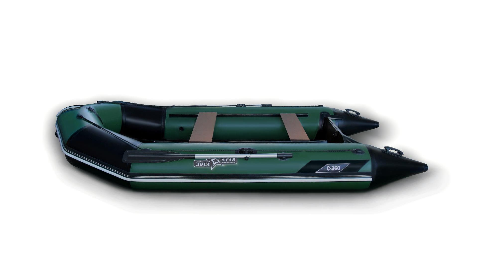 Моторная плоскодонная лодка CAIMAN C-360
