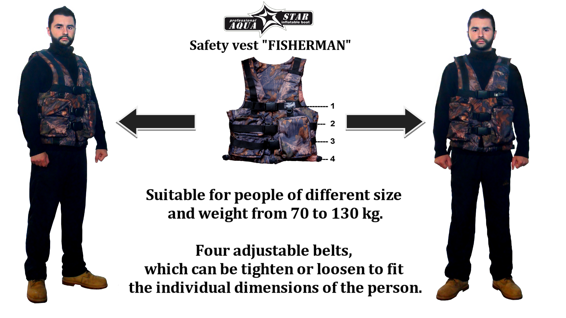 "Safety vest ""FISHERMAN"""